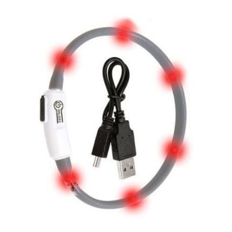 Obojek USB Visio Light 35cm šedý KAR