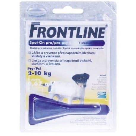 Frontline Spot-On Dog S sol 1x0,67ml MONO - žlutý