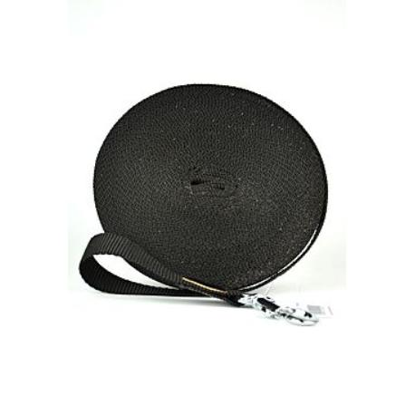 Vodítko nylon stopovací Ploché 15m/20mm Černá 1ks
