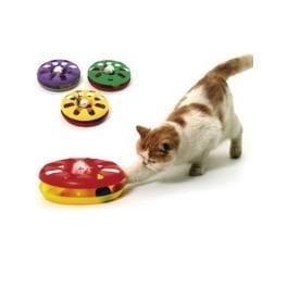 Hračka kočka Talíř plast oboustr. s míčkem 24cm KAR1ks