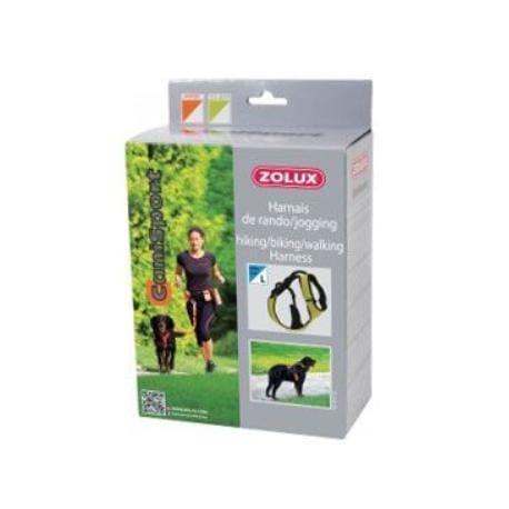 Postroj CANISPORT Jogging zelená L Zolux