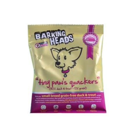 BARKING HEADS Tiny Paws Quackers GRAIN FREE-VZOREK 40g
