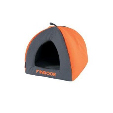 Domek pro hlodavce INDOOR IGLOO oranžová/šedá Zolux