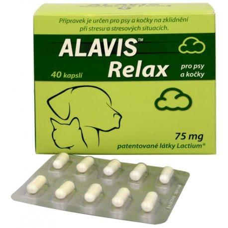 Alavis Relax pre psy a mačky 75mg 40cps