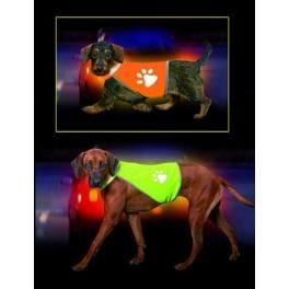 Vesta reflex Safety Dog kr48-56,bř68-78 Žltá KAR 1ks