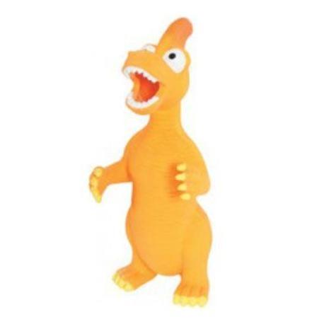 Hračka pes DINO latex 24cm oranžová Zolux