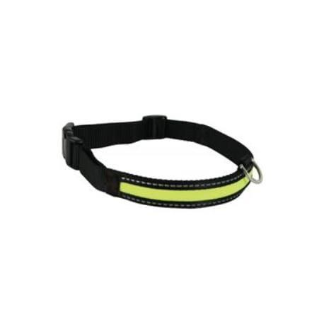 Obojek pes LED nylon nabíjecí nastavitelný M Zolux
