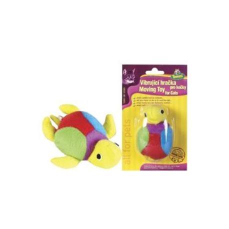 Hračka kočka vibrující želva color na kartě