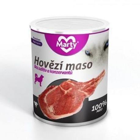Marty konzerva pro psy 100% masa - hovězí 800g
