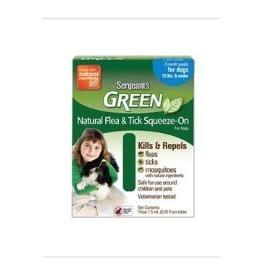 Sergeanťs Green spot on pre psy do 12kg 3x2,5ml