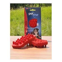 PET and ME kartáč pre psy, dlhá srsť, červený