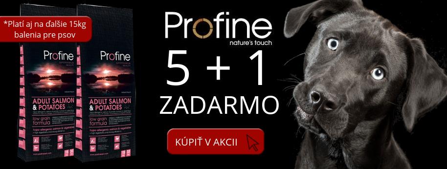 Profine Dog 15kg v akcii 5+1 ZADARMO