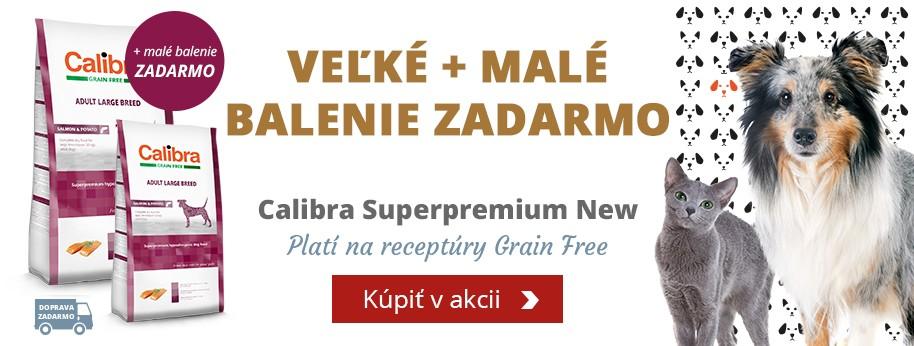 Calibra Superpremium Veľké + malé balenie ZADARMO