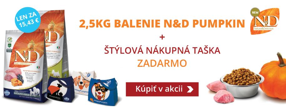 N&D Grain Free Pumpkin 2,5 kg + DARČEK TAŠKA