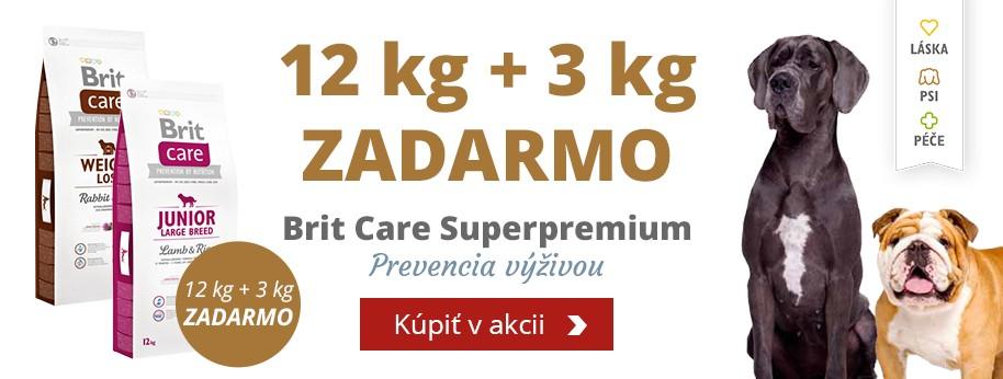 Brit care dog 12 kg + 3 kg ZADARMO