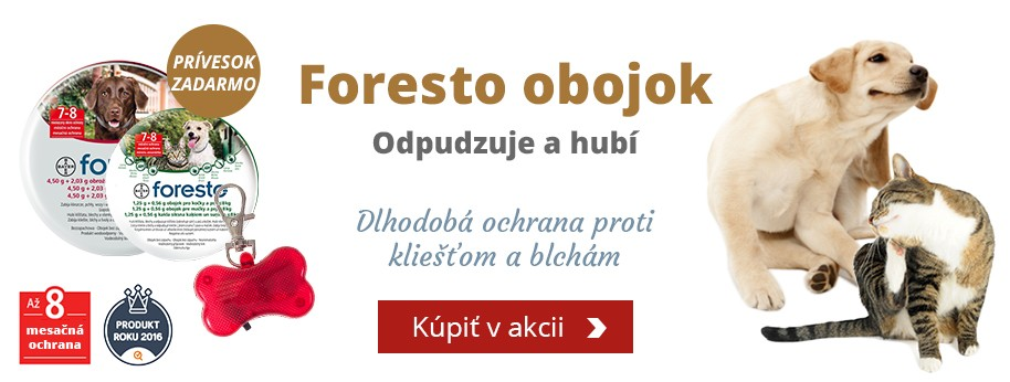 Foresto - antiaprazitný obojok + DARČEK svetielko