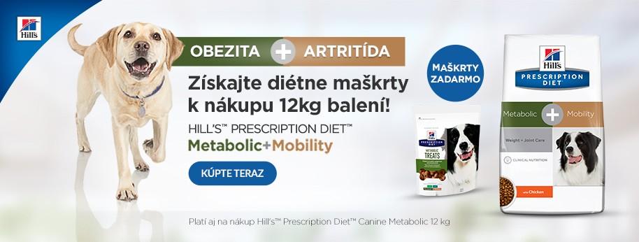 Hills Metabolic+Mobility 12 kg + diétne pochúťky