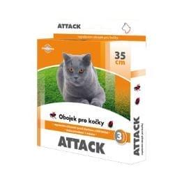 Attack obojek antiparazitární 35cm kočka