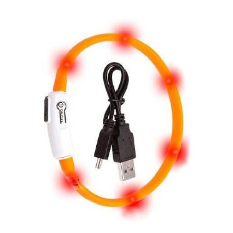 Obojek USB Visio Light 35cm oranžový KAR 1ks