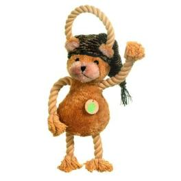 Hračka pes Medvedík plyš 45cm pískacie KAR 1ks