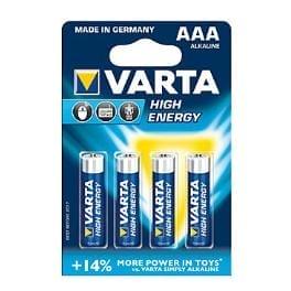 VARTA Baterie High Energy AAA 4ks