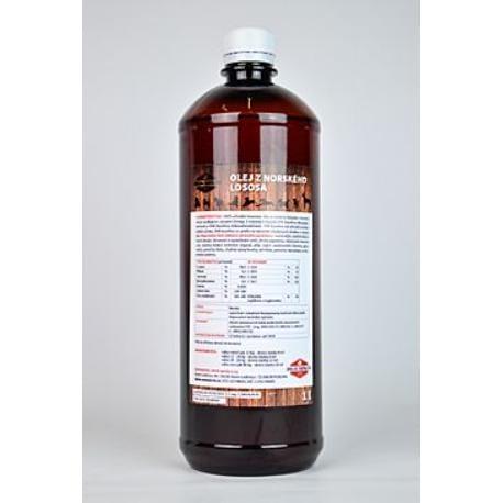 Lososový olej 100% pes  1000ml