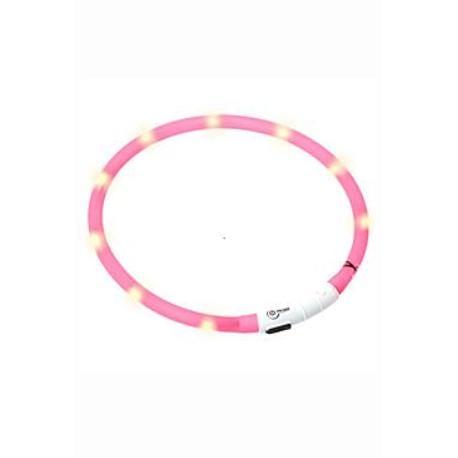 Obojek USB Visio Light 70cm růžový KAR 1ks
