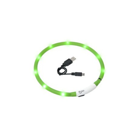 Obojek USB Visio Light 70cm zelený KAR 1ks