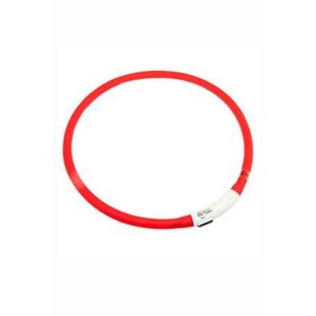 Obojek USB Visio Light 70cm červený KAR 1ks