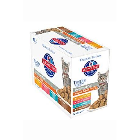 Hill's Feline kapsa Adult Young Sterilised Mix 12x85g