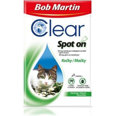 Bob Martin Clear spot on Cat 50mg 1x0,50ml pip.