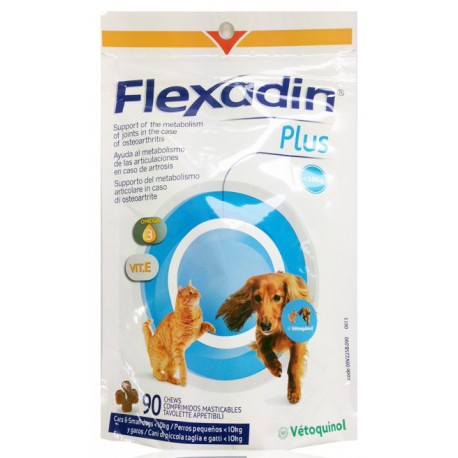Vétoquinol Flexadin Plus 90tbl pro malé psy a kočky