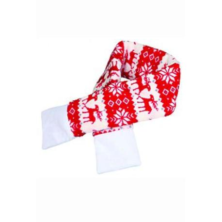 Vánoční šála L 90cm červená TR 1ks*