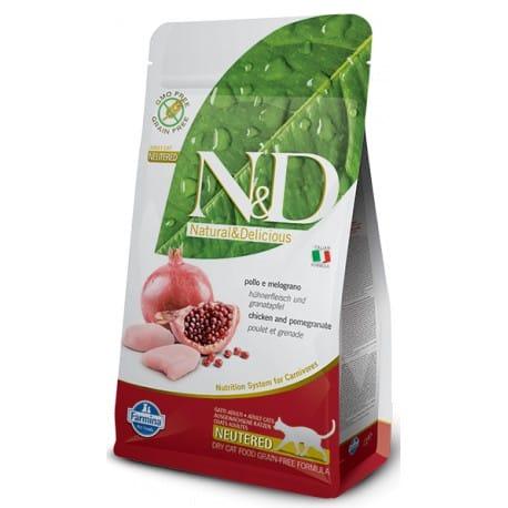 N&D Grain Free CAT Neutered Chicken&Pomegranate 10kg