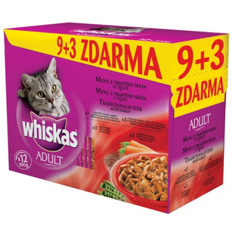 Whiskas kapsa Menu z tmav. masa 12x100g