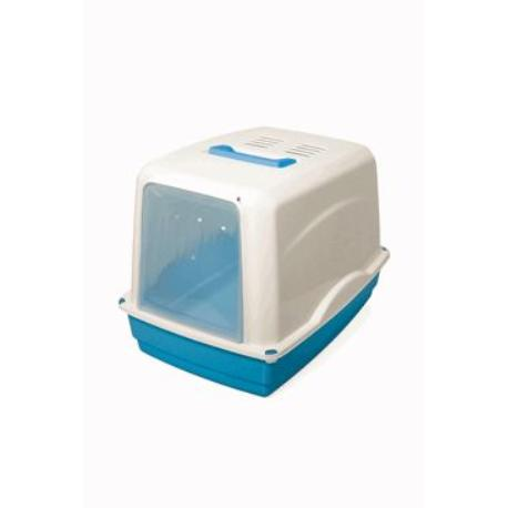 Wc kočka kryté domek Modrá 54x39x39cm ARGI