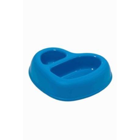 Miska plast dvojmiska Srdce 500ml+200ml modrá ARGI