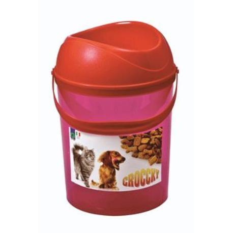 Box na krmivo s miskou Červený ARGI