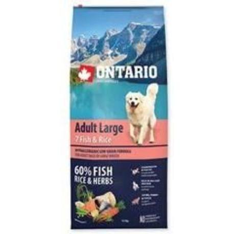 ONTARIO Dog Adult Large Fish & Rice 12kg