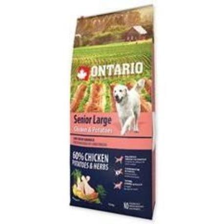 ONTARIO Dog Senior Large Chicken&Potatoes&Herbs 12kg