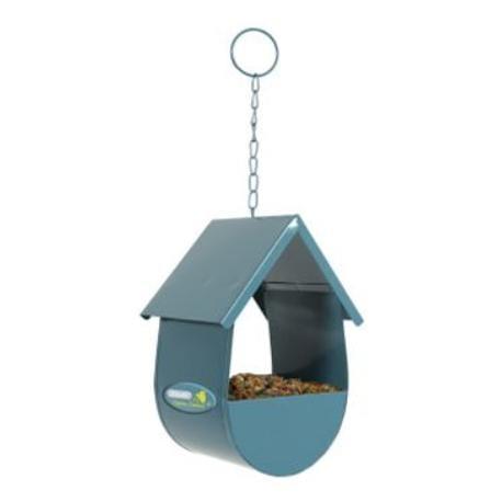 Budka na krmivo pro ptáky kovová modrá Zolux