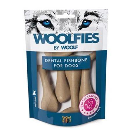 Pochoutka dentální Woolfies Dental Fishbone M 200g