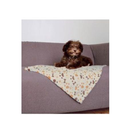 Deka pre psov LINGO bielo / béžová 50x75cm TR