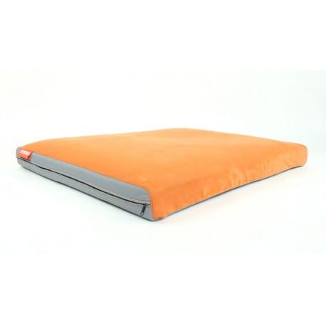 Matrace Aminela 100x70x10cm Half and Half šedá/oranžová