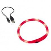 Nobby Ľad Visible červený svietiaci obojok silikón 40cm