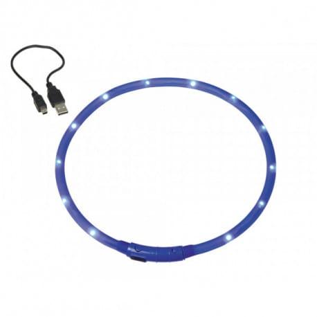 Nobby Led Visible modrý svítící obojek silikon 70cm