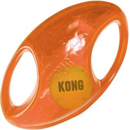 Kong Jumbler hračka pre psov gumová lopta rugby L / XL 18cm