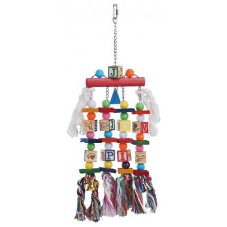 Nobby závesná hračka pre veľké papagáje kocky 50x15cm