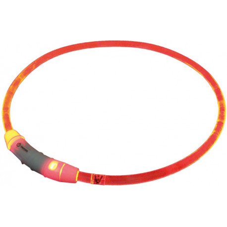 Nobby Starlight svietiace obojok ABS plast červená 65cm