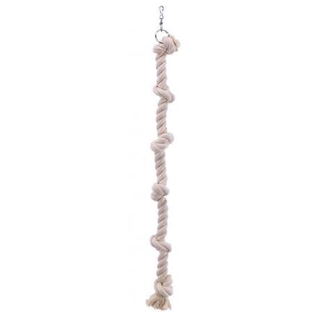 Nobby závěsné bavlněné lano XXL se 6 uzly 100cm